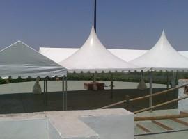 Montaje carpa para boda en Cumbres Verdes